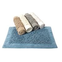 Saffron Fabs Cotton and Chenille Noodle Bath Rug