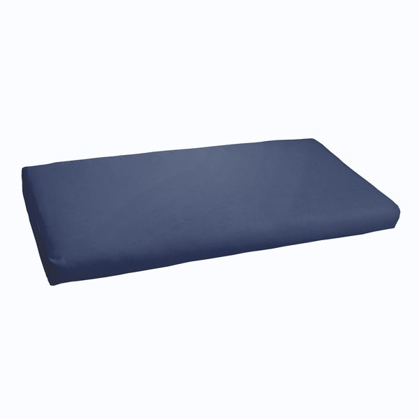 Sloane Dark Blue 48 Inch Indoor Outdoor Bristol Bench Cushion Free Shipping Today Overstock