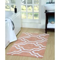 Saffron Fabs Cotton Quatrefoil Bath Rug