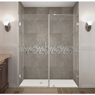 Aston Nautis 63 x 72-inch Completely Frameless Hinged Shower Door
