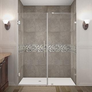 Aston Nautis 64 x 72-inch Completely Frameless Hinged Shower Door