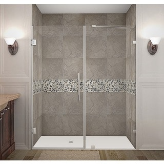 Aston Nautis 65 x 72-inch Completely Frameless Hinged Shower Door