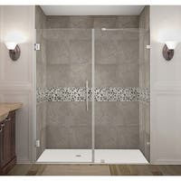 Aston Nautis 66 x 72-inch Completely Frameless Hinged Shower Door