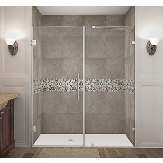 Aston Nautis 67 x 72-inch Completely Frameless Hinged Shower Door
