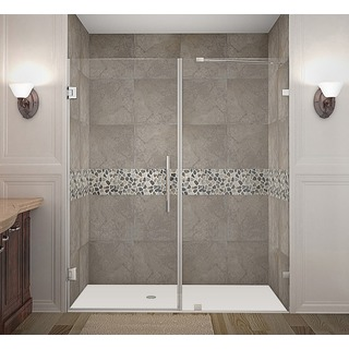 Aston Nautis 69 x 72-inch Completely Frameless Hinged Shower Door