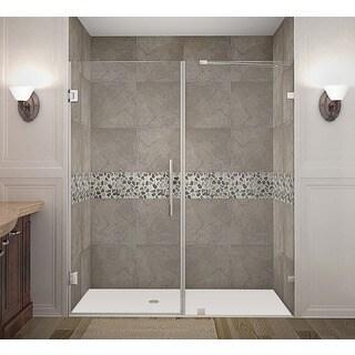 Aston Nautis 70 x 72-inch Completely Frameless Hinged Shower Door