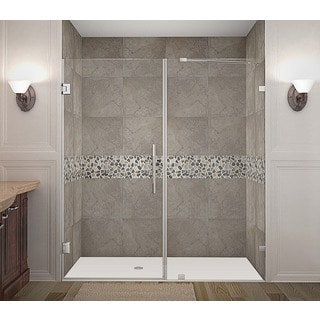 Aston Nautis 74 x 72-inch Completely Frameless Hinged Shower Door