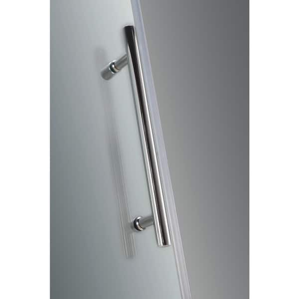 Aston Nautis Gs 66 X 72 Inch Completely Frameless Hinged Shower Door With Glass Shelves Overstock 11351848