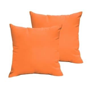 Sloane Bright Orange 22 x 22-inch Indoor/ Outdoor Knife Edge Pillow Set