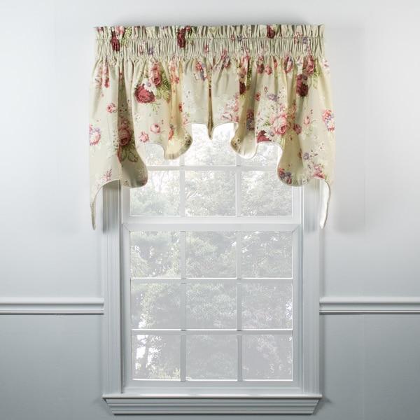 Ellis Valance Part - 20: Ellis Curtain Sanctuary Rose Linen Duchess Valance - 100 x 30