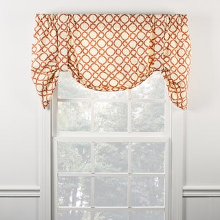 Ellis Curtain Kent Crossing Clay Tie Up Valance - 50 x 21