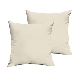 Sloane Ivory 22 x 22-inch Indoor/ Outdoor Knife Edge Pillow Set