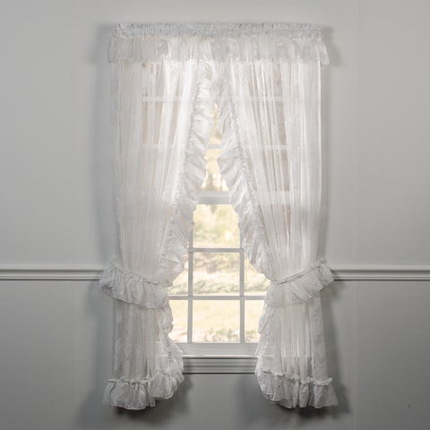 Ellis Curtain Beverly Lace Priscilla Curtain Pair with Ties