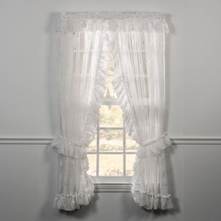 Ellis Curtain Beverly Lace Priscilla Pair with Ties