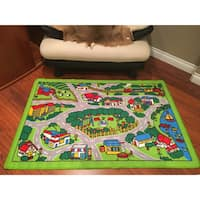 "Spectrum Kids Time City Map Rug - 3'3"" x 4'10"""