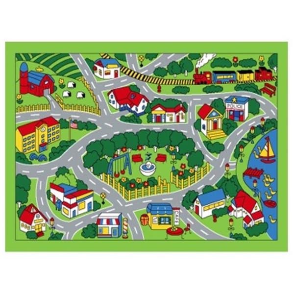 Spectrum Kids Time City Map Rug - 3'3