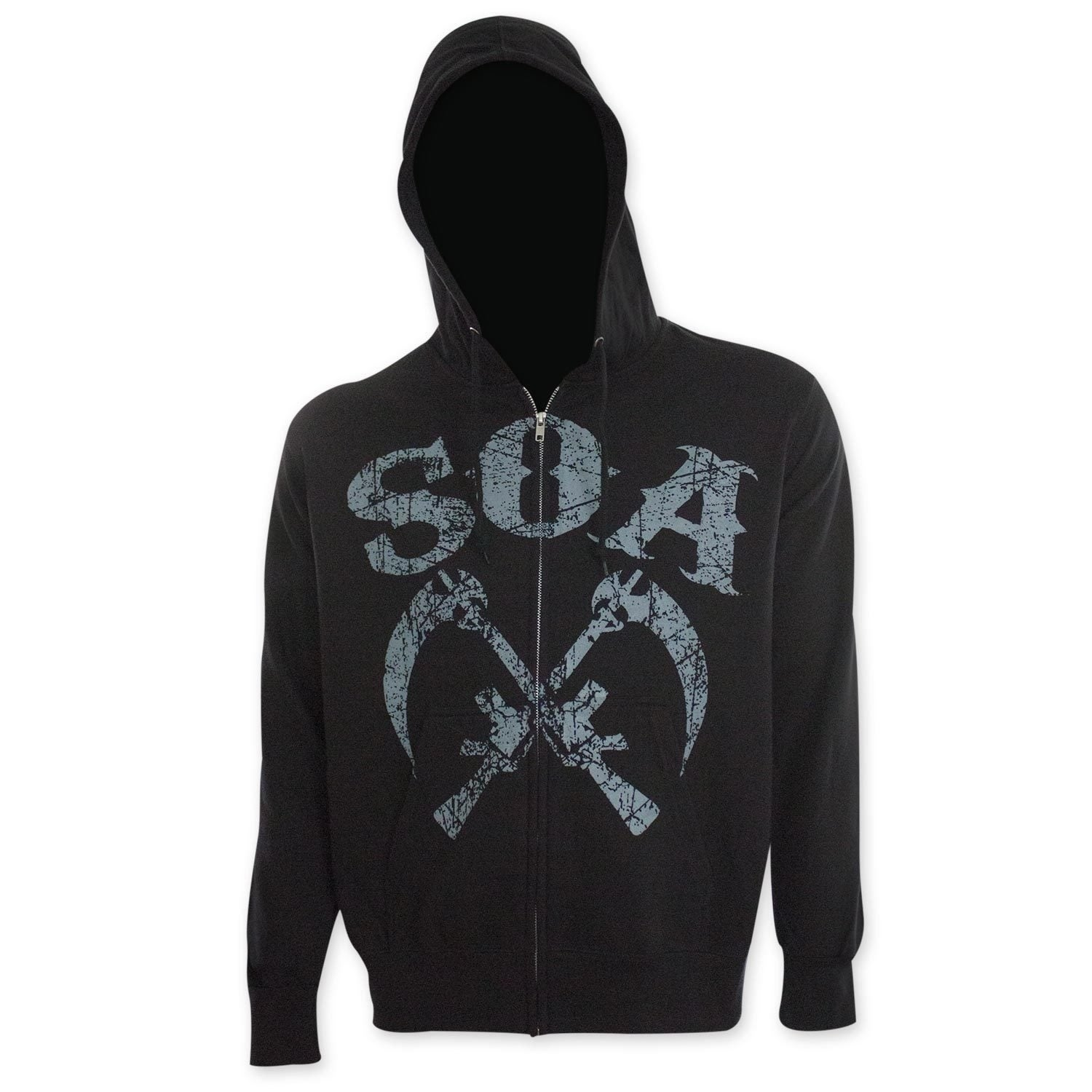 Sons Of Anarchy Men's Sickle Hoodie (M), Black (polyester)