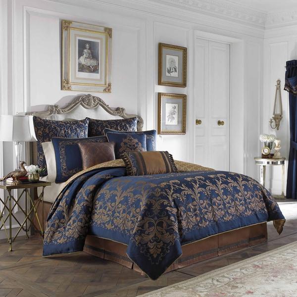 Croscill Monroe Blue 4-piece Comforter Set