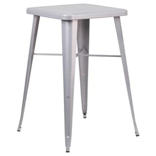 Offex 23.75-inch Square Metal Bar Height Table
