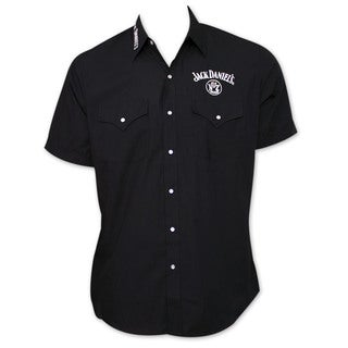 Jack Daniel's Whiskey Black Button-Up Dress Shirt