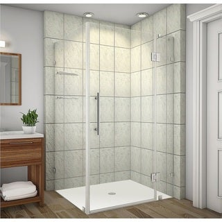 Aston Avalux GS 42 x 38 x 72-inch Completely Frameless Shower Enclosure with Glass Shelves