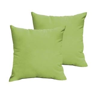Sloane Apple Green 20 x 20-inch Indoor/ Outdoor Knife Edge Pillow Set