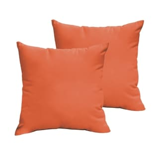Sloane Mandarin Orange 20 x 20-inch Indoor/ Outdoor Knife Edge Pillow Set
