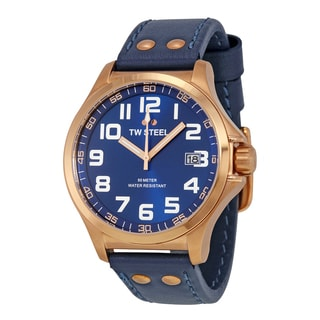TW Steel Men's TW404 Pilot Blue Watch