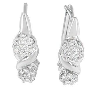 14k White Gold 1/2ct TDW Diamond Earrings