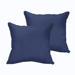 Sloane Dark Blue 20 x 20-inch Indoor/ Outdoor Flange Edge Pillow Set