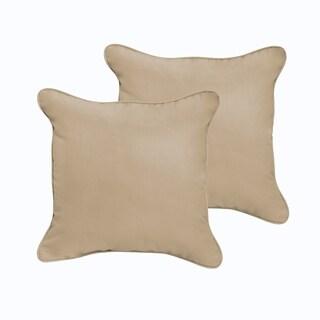 Sloane Beige 20 x 20-inch Indoor/ Outdoor Corded Edge Pillow Set