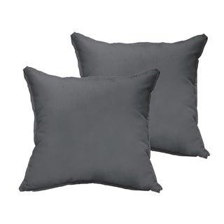 Sloane Charcoal Grey 20 x 20-inch Indoor/ Outdoor Flange Edge Pillow Set