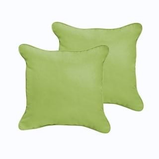 Sloane Apple Green 20 x 20-inch Indoor/ Outdoor Corded Edge Pillow Set
