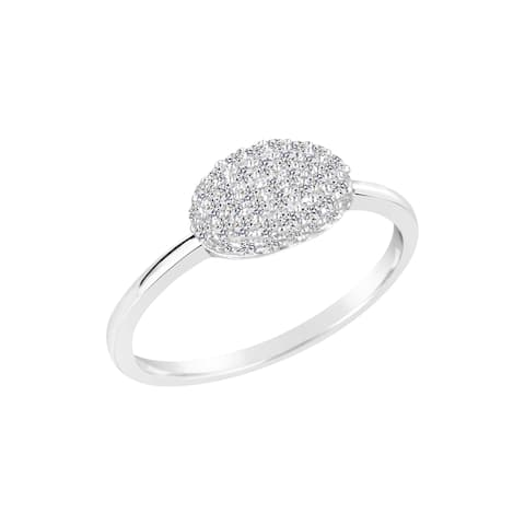 Sterling Silver Lab Created White Sapphire Ring