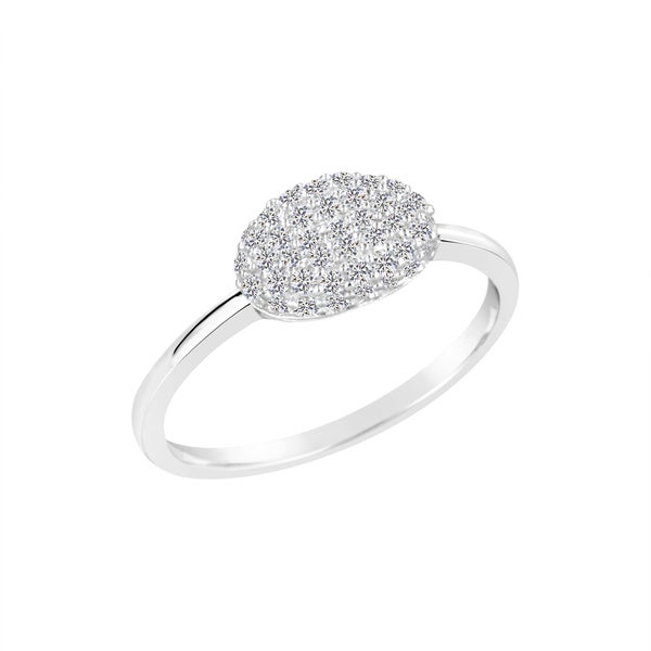 Sterling Silver Lab Created White Sapphire Ring. Opens flyout.