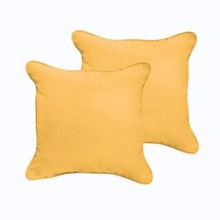 Sloane Butter Yellow 20 x 20-inch Indoor/ Outdoor Corded Edge Pillow Set