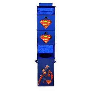 Superman Blue Closet Hanging Organizer with 2 Storage Bins