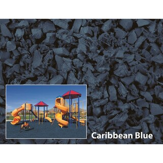 NuPlay Caribbean Blue Rubber Mulch 75 Cubic Foot Pallet