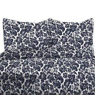 300TC Avalon Print 100-percent Cotton Duvet Cover Set