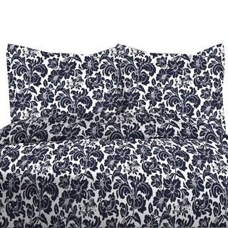 300TC Avalon Print 100-percent Cotton Duvet Cover Set (Option: Pewter)