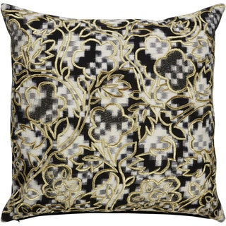 Nikki Chu Tribal Pattern Black/White Cotton Poly Fill Pillow - 22 inch
