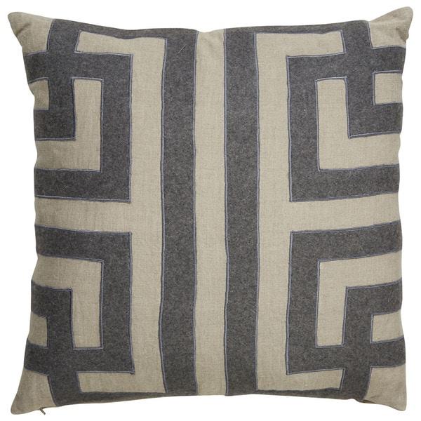 Shop Nikki Chu Tribal Pattern Taupe Gray Linen Poly Fill
