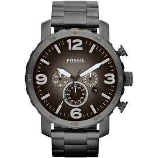 Fossil Men's JR1437 Nate Chronograph Smoke Watch