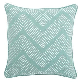 Tribal Pattern Green/Ivory Cotton Poly Fill Pillow - 18 inch