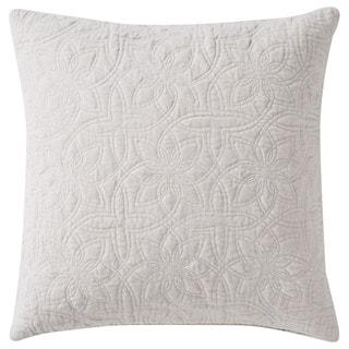 Nikki Chu Tribal Pattern Ivory Viscose Poly Fill Pillow - 22 inch