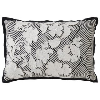 Nikki Chu Tribal Pattern Black/Ivory Cotton Poly Fill Pillow - (16 x 24-inch)