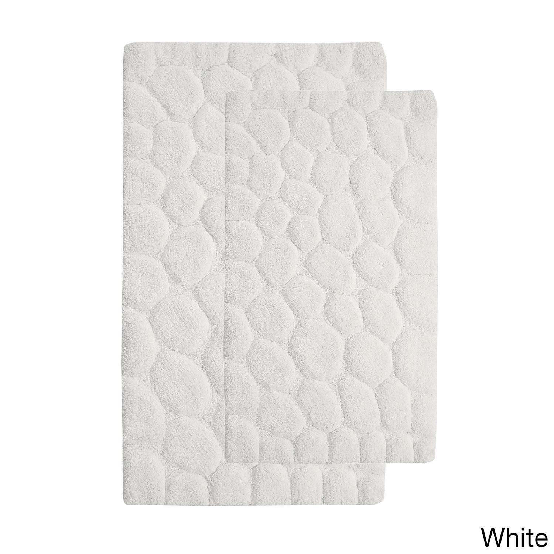 saffron fabs 2 piece 100 soft cotton bath rug set white | ebay