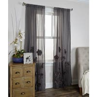 Arden Loft Thistle Terrace Charcoal Cotton Blend Curtain Panel