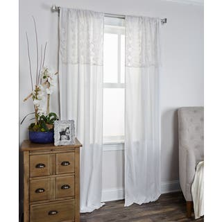 Arden Loft Coquette Collection White Cotton Curtain Panel https://ak1.ostkcdn.com/images/products/11352933/P18325668.jpg?impolicy=medium