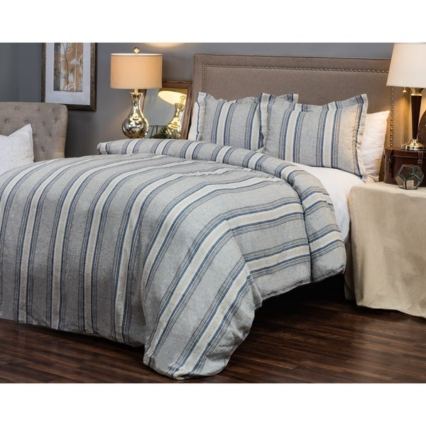 Rizzy Home Williamson Striped Linen Duvet Cover